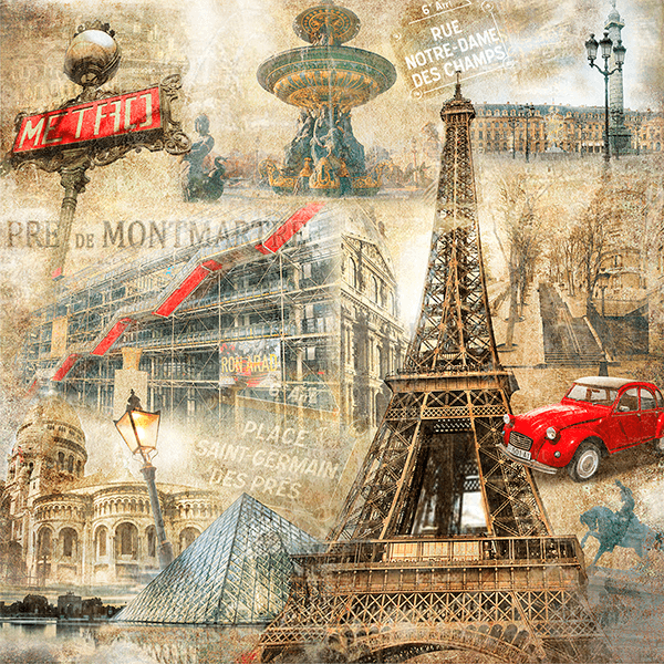 Fotomurales: Collage de París