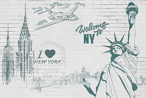 Fotomurales: I Love & Welcome to NY