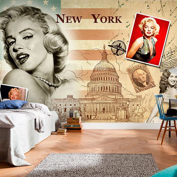 Fotomurales: Collage Marilyn Monroe