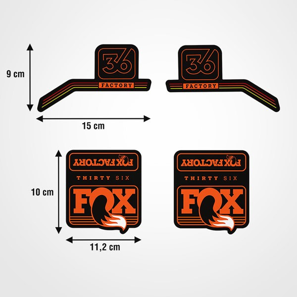 Pegatinas: Kit Horquillas bicicleta Fox Thirty Six