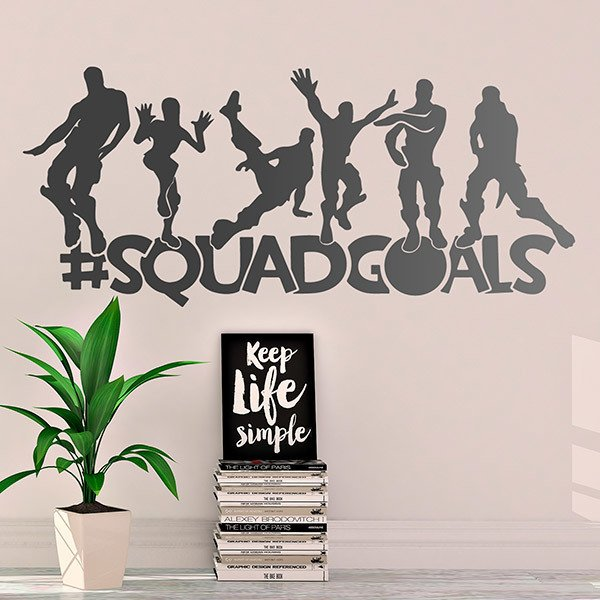 Vinilos Decorativos: Fortnite Squadgoals