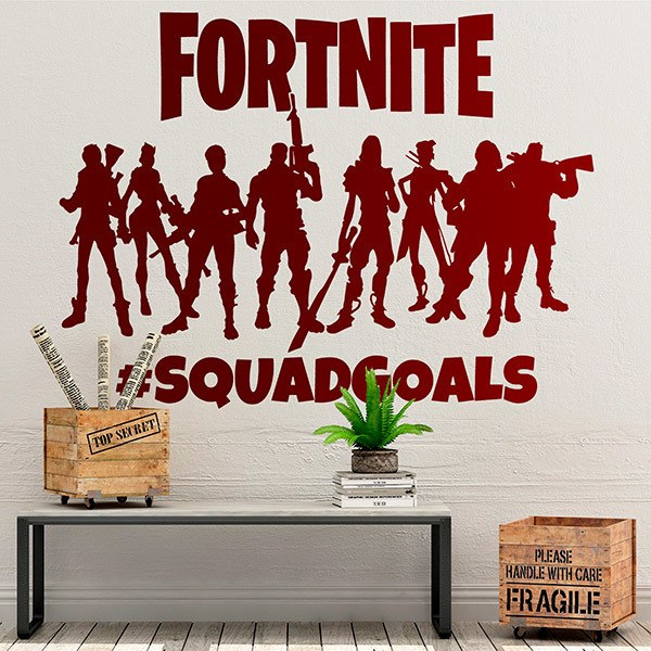 Vinilos Decorativos: Fortnite Squadgoals Logo