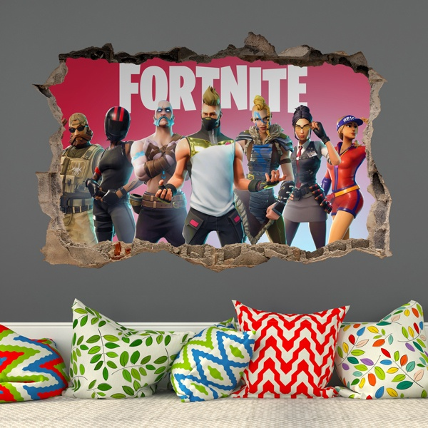 Vinilos Decorativos: Agujero Fortnite Players