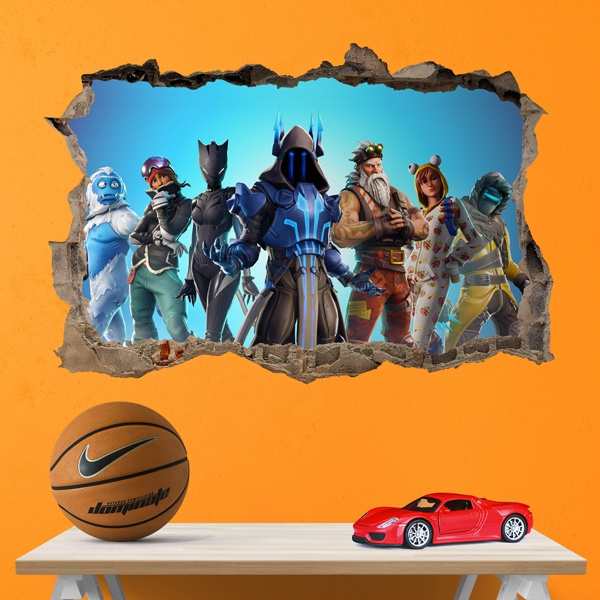 Vinilos Decorativos: Agujero Fortnite Action
