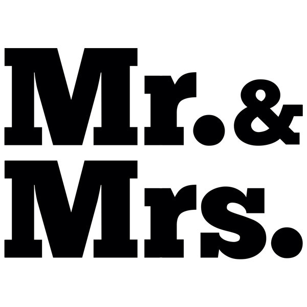 Vinilos Decorativos: Mr. & Mrs.