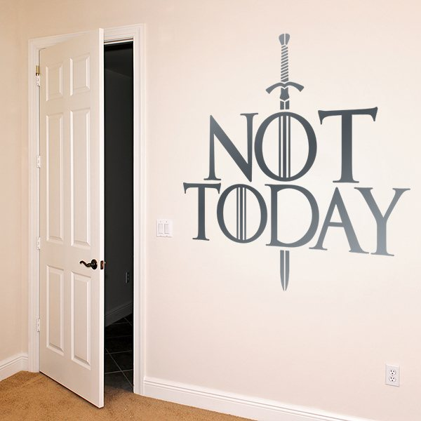 Vinilos Decorativos: Frase Not Today