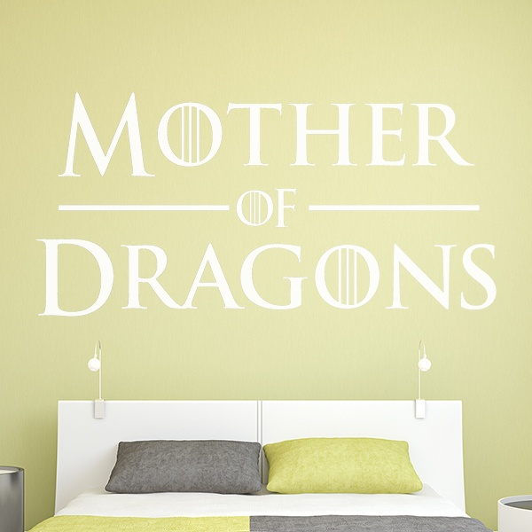 Vinilos Decorativos: Cabecero Mother of Dragons