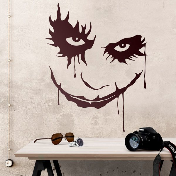 Vinilos Decorativos: Rostro del Joker (Batman)