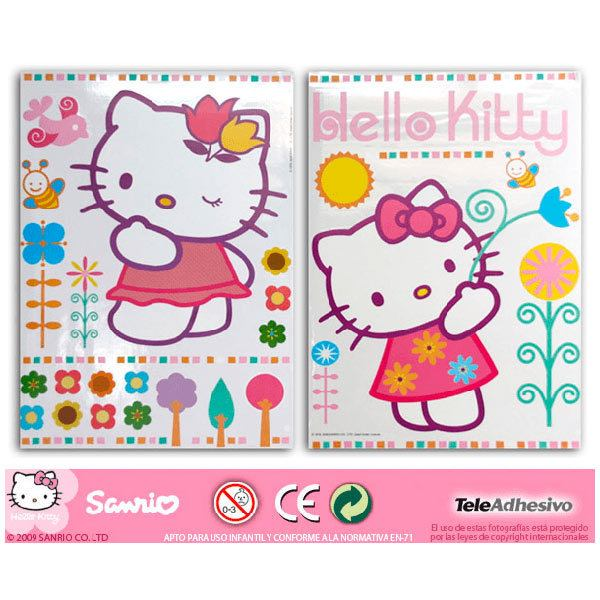 Vinilos Infantiles: hello kitty 2 68x96 cm