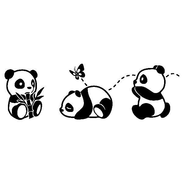 Vinilos Infantiles Los Tres Pandas La Casa De Papel Folder