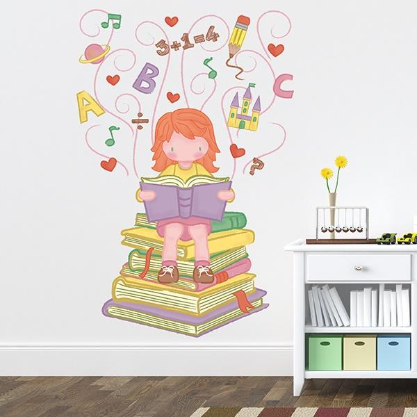 Vinilo decorativo infantil ni a aprendiendo for Vinilos infantiles nina