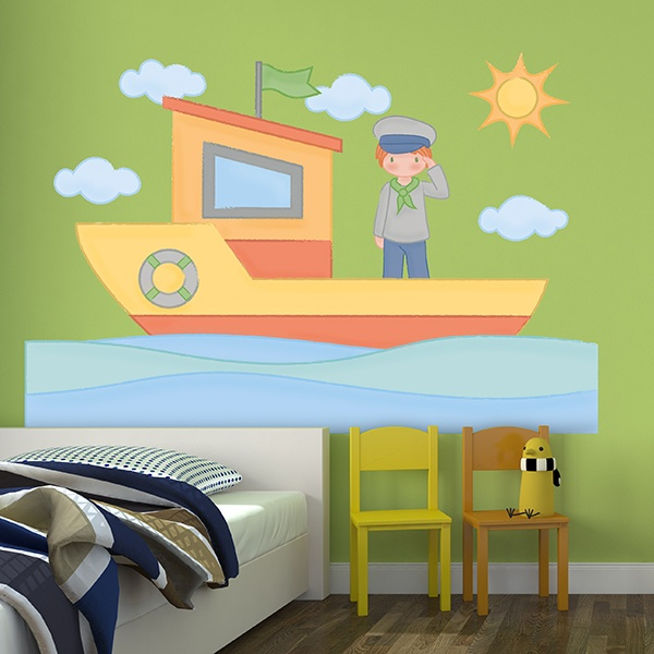 Vinilo decorativo infantil peque o marinero - Vinilos pequenos ...