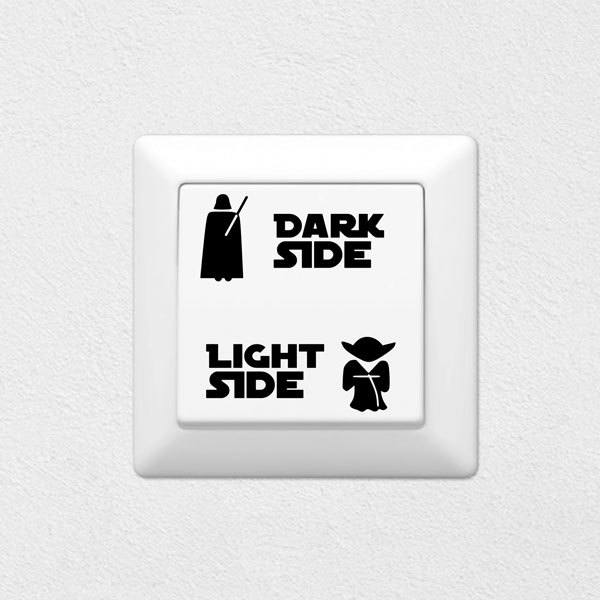Vinilos Decorativos: Light Side, Dark Side