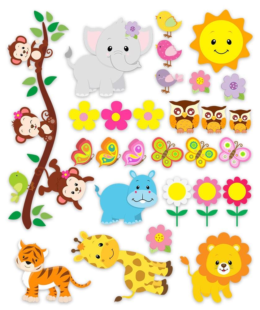 Kit animales de la jungla - Imagenes de vinilos infantiles ...
