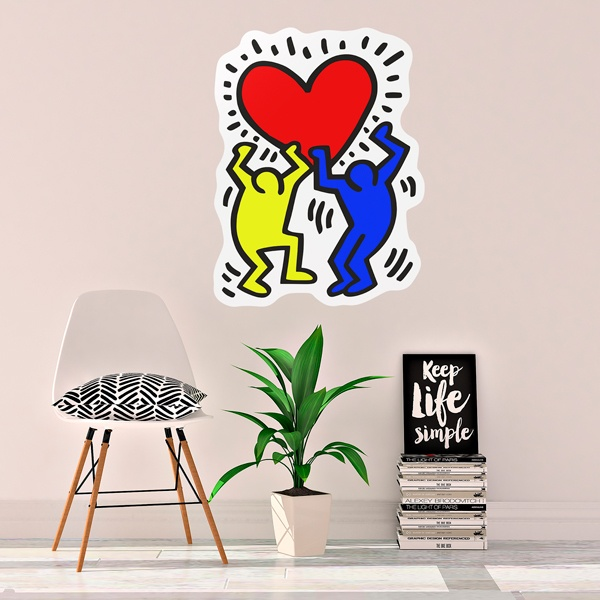 Vinilos Decorativos: Holding a heart (Color)