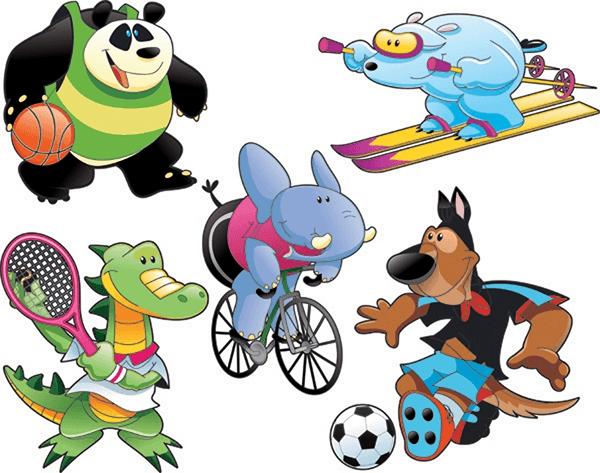 Animales haciendo deporte