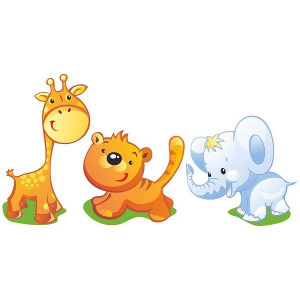 Kit de jirafa tigre y elefante for Vinilos infantiles precios