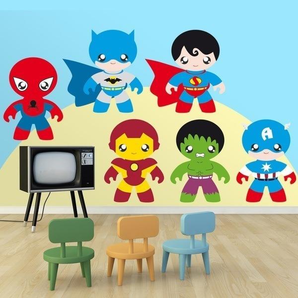Kit super h roes for Vinilos infantiles precios