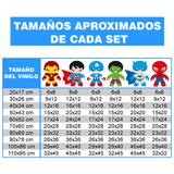 Vinilos Infantiles: Kit Héroes 3