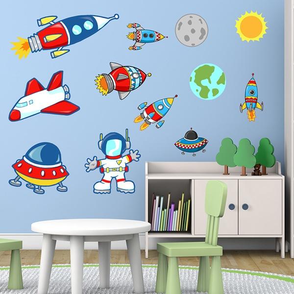 Vinilos Decorativos Planetas.Vinilos Decorativos Infantiles Espaciales Teleadhesivo