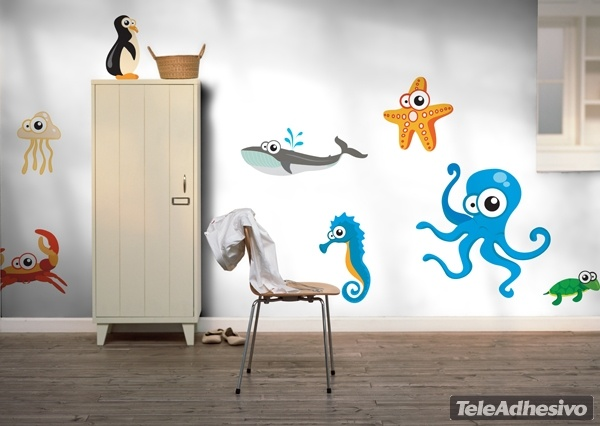 Kit de vinilos infantiles de animales marinos del acuario for Precios de vinilos infantiles