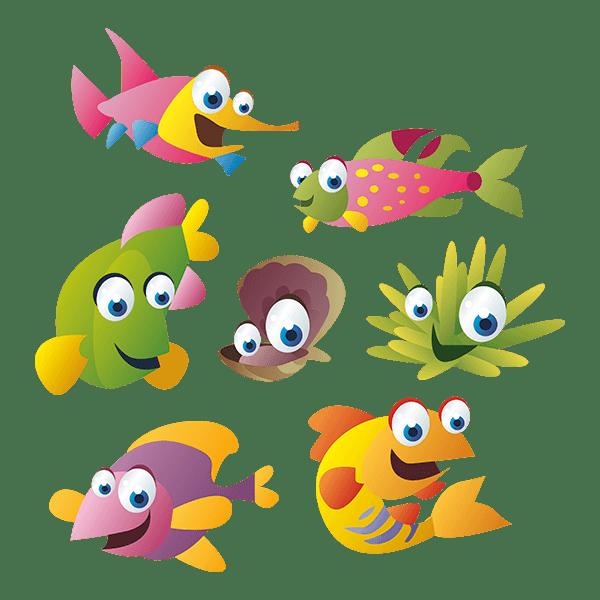 Kit de vinilo peces del mar for Pegatinas infantiles