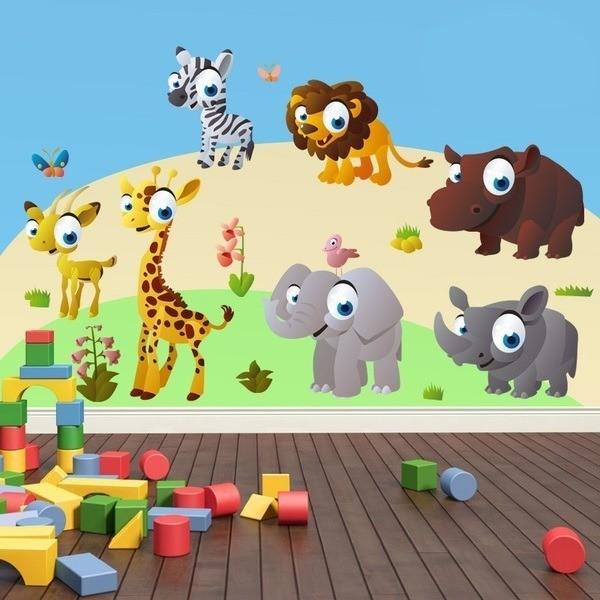 kits de vinilos infantiles de animales