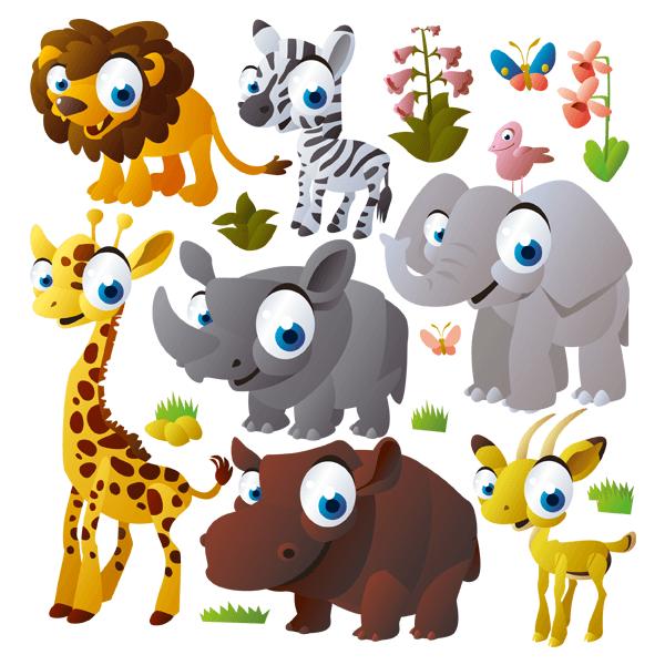 Vinilo decorativo infantil animales de la selva for Vinilos infantiles animales