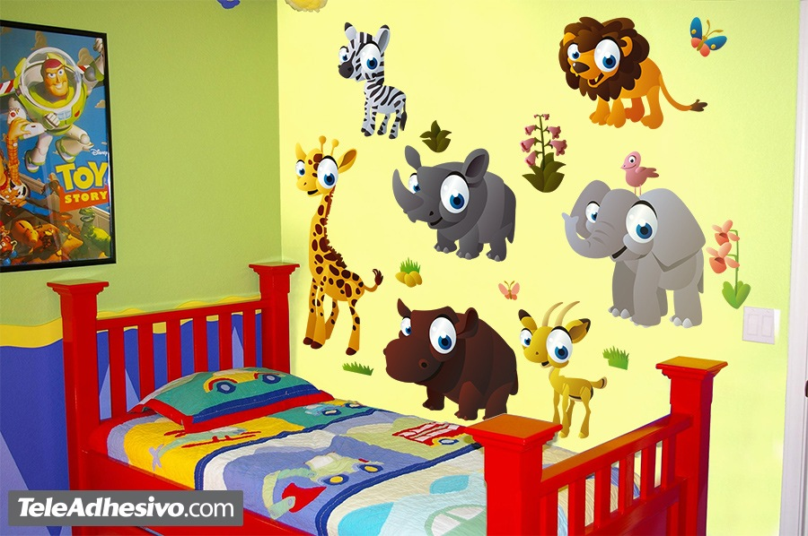 Vinilo infantil animales de la selva
