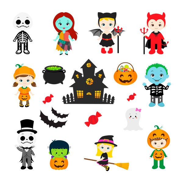 Vinilos Decorativos: Kit Halloween