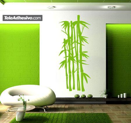 Cañas de bambú zen