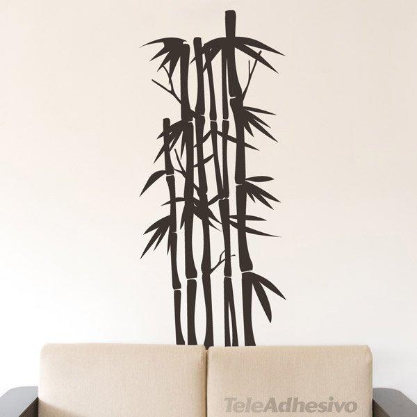 Vinilo decorativo floral olyreae - Canas de bambu decorativas leroy merlin ...