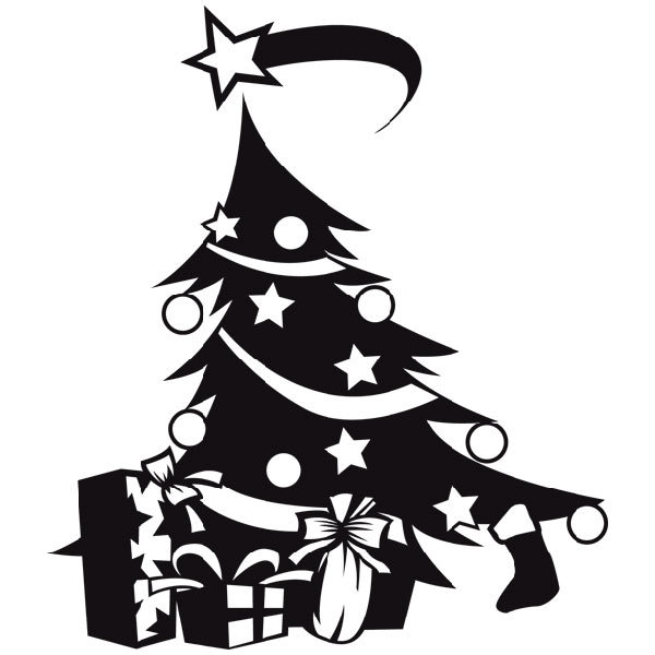 Arbol navidad - Vinilos decorativos de navidad ...