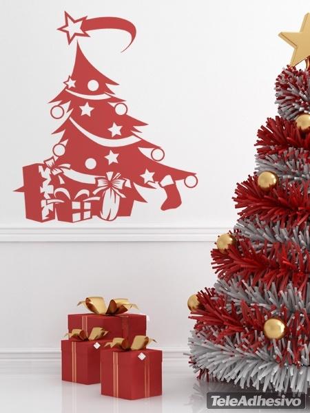 Arbol navidad for Vinilos decorativos navidad