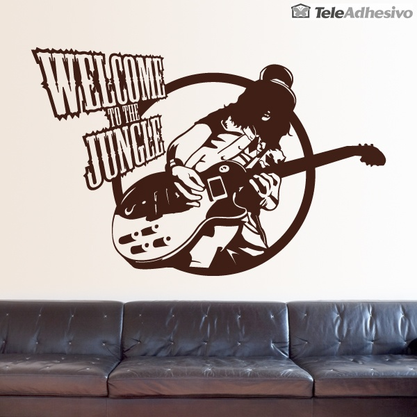 Vinilos Decorativos: Slash, Welcome to the jungle