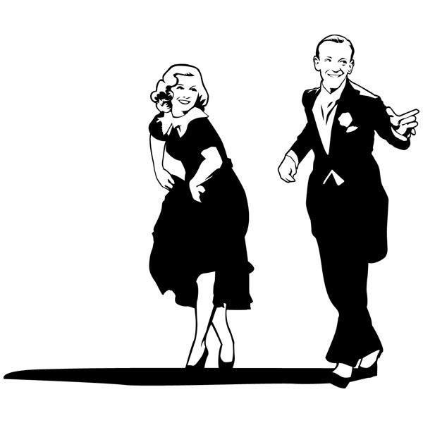Vinilo Decorativo Fred Astaire Y Ginger Rogers Teleadhesivo Com