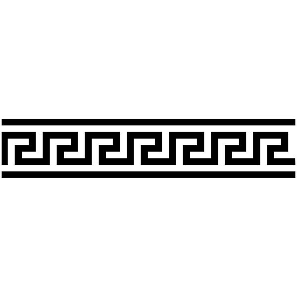 Vinilo decorativo cenefa griega espiral - Cenefas de vinilo para cocinas ...
