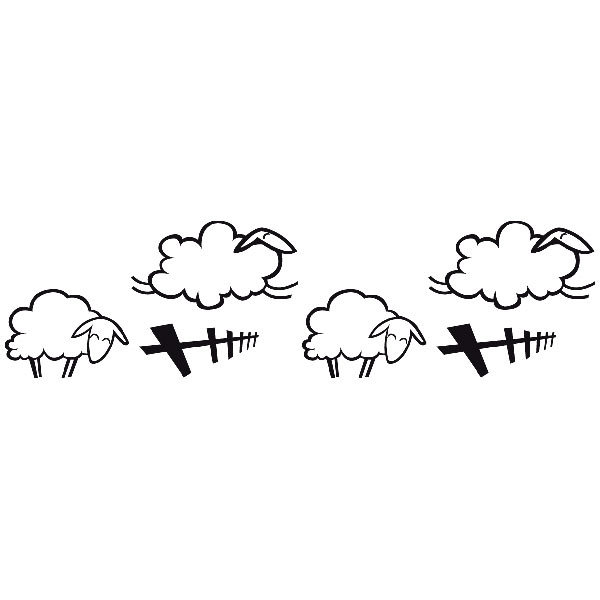 Cenefa adhesiva infantil ovejas - Dibujos de cenefas ...
