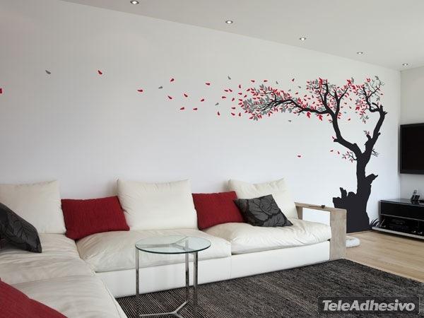 Rbol perdiendo sus hojas en 3 colores - Vinilos decorativos arboles ...