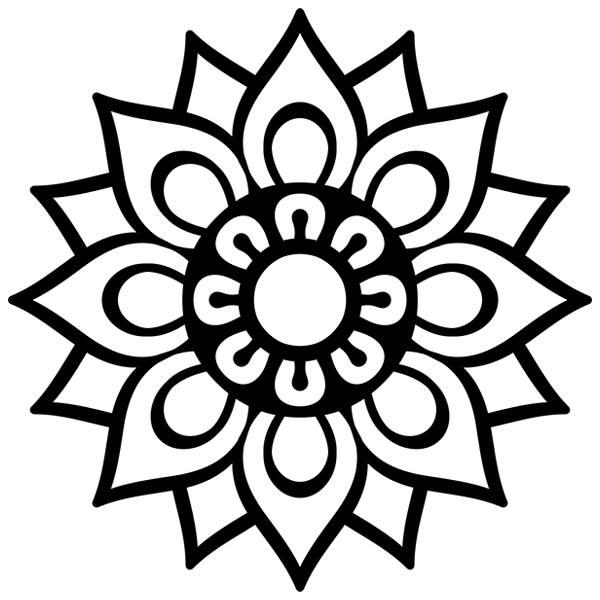 Vinilo decorativo Mandala sencilla TeleAdhesivo
