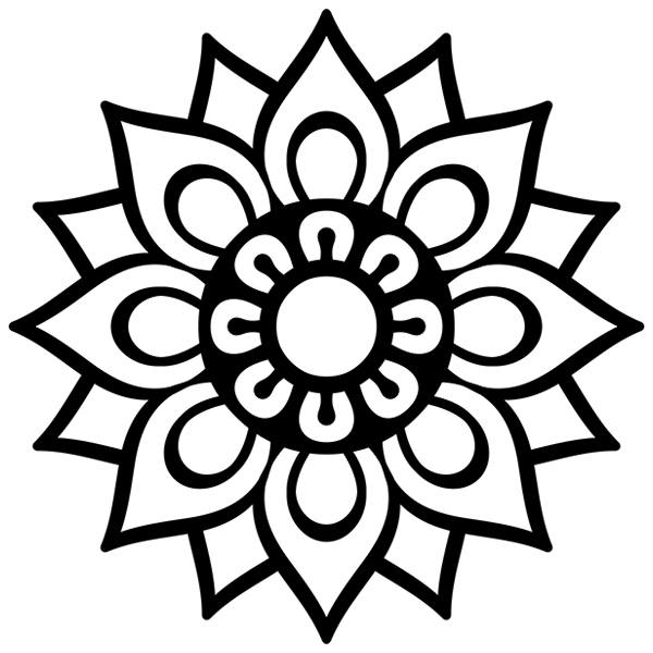 Vinilo Decorativo Mandala Sencilla Teleadhesivo Com