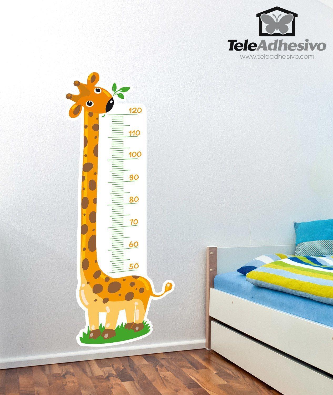 Vinilo infantil medidor jirafa 3 for Vinilos para pared infantiles