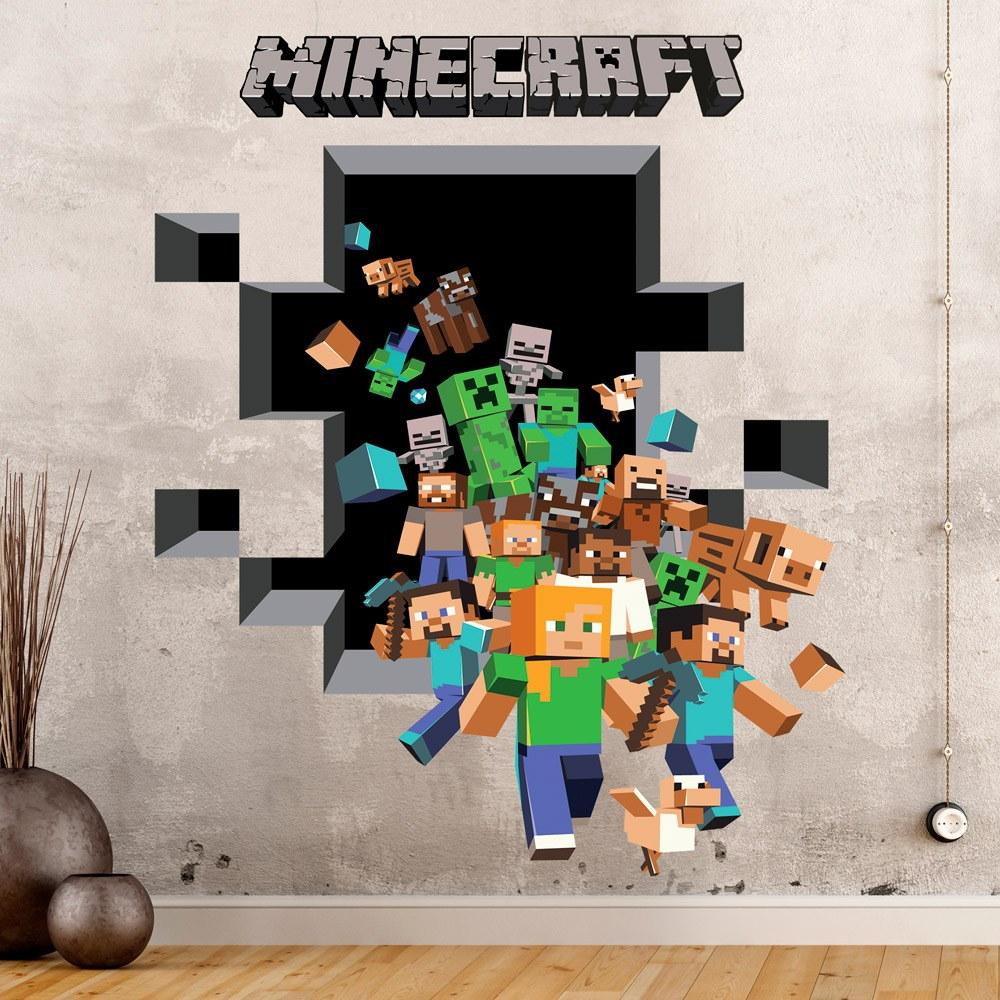Vinilo decorativo del juego minecraft 3d teleadhesivo for Vinilos decorativos 3d