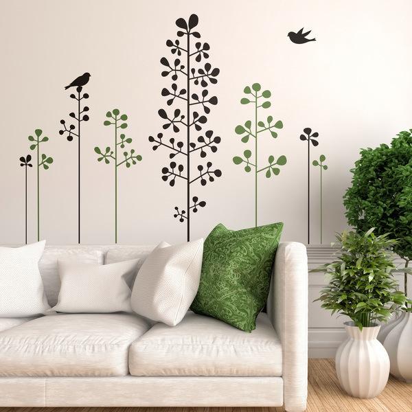 Vinilos de rboles adhesivos decorativos de rbol for Arbustos decorativos