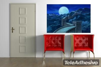 Vinilo decorativo gran muralla china de noche for Vinilos para murallas
