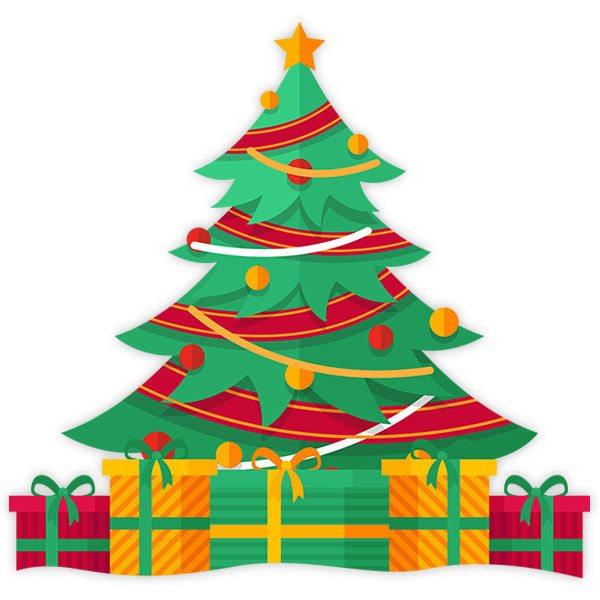 Vinilo decorativo infantil Árbol con regalos de Navidad   TeleAdhesivo.com