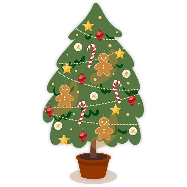 Vinilo decorativo infantil rbol navidad decorado - Comprar arboles de navidad decorados ...