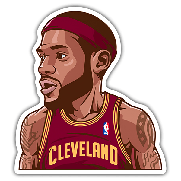 Pegatinas: NBA - Lebron James