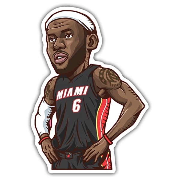 Pegatinas: NBA - Lebron James All-Star