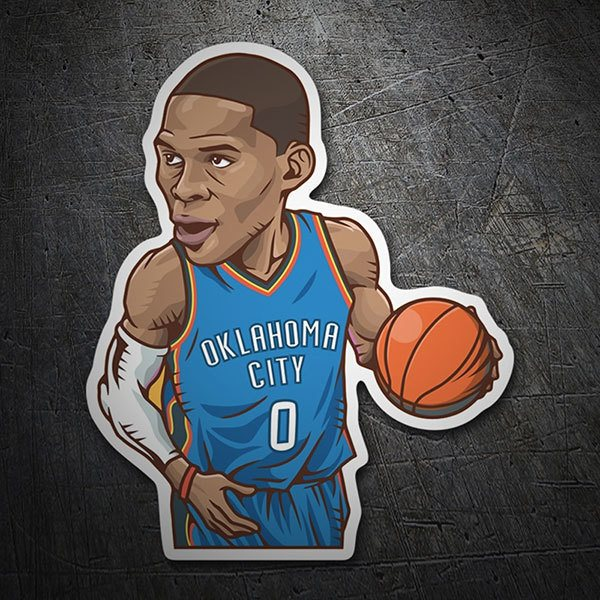 Pegatinas: NBA - Russell Westbrook All-Star